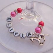 Horse Personalised Wine Glass Charm - Elegance Style